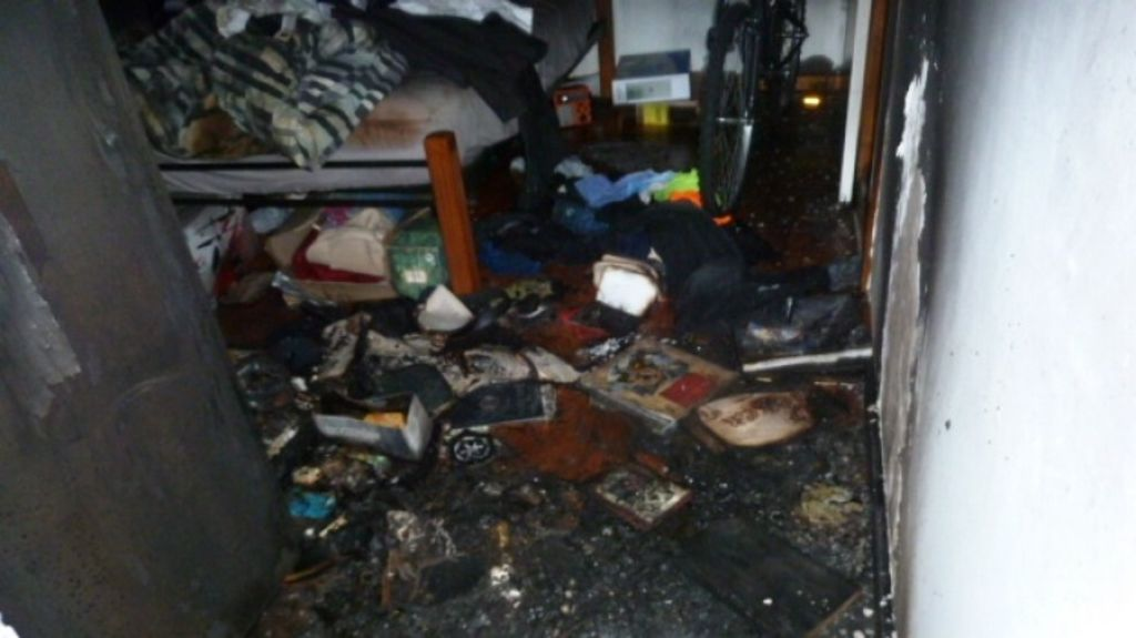 The fire in the Newborough unit caused $50,000 worth of damage. Photo: Supplied