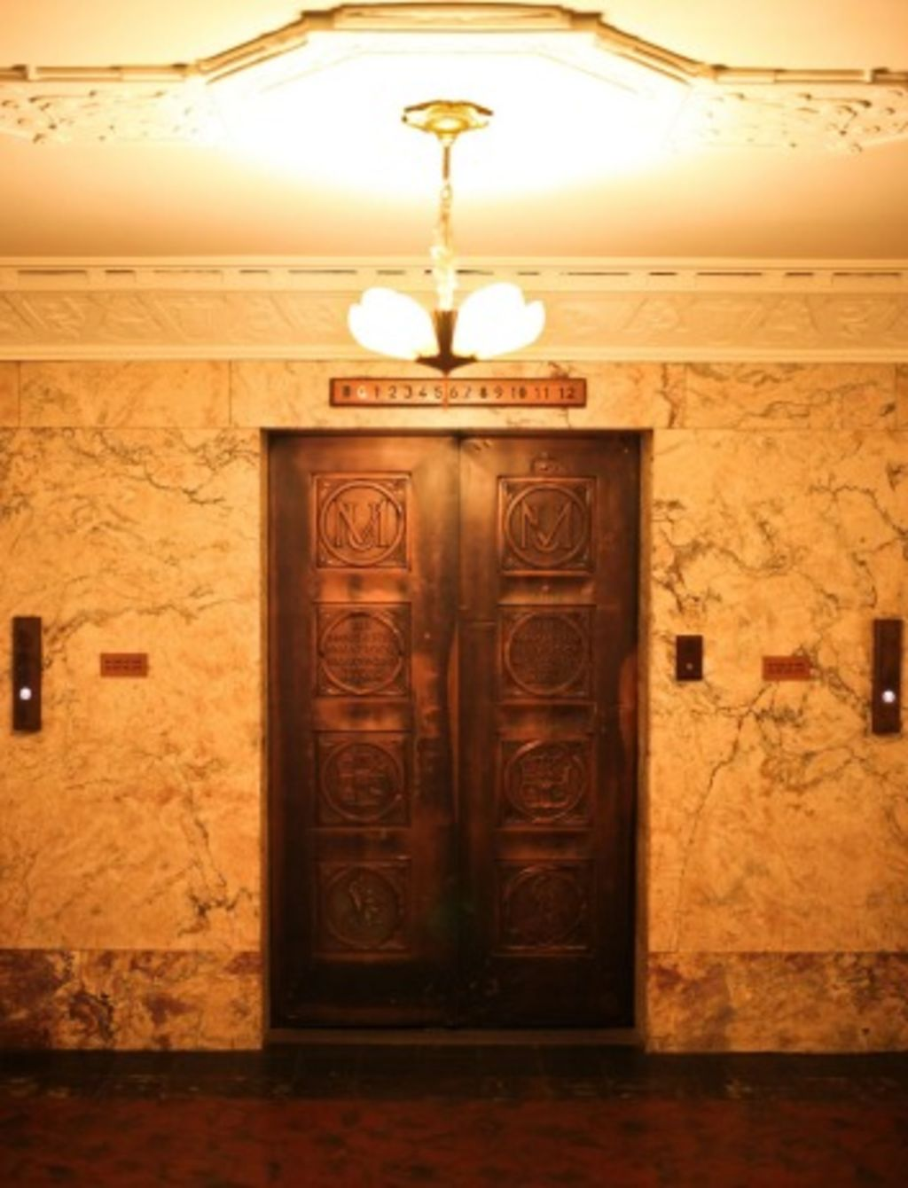 The elevator inside the building. Photo: Anu Kumar