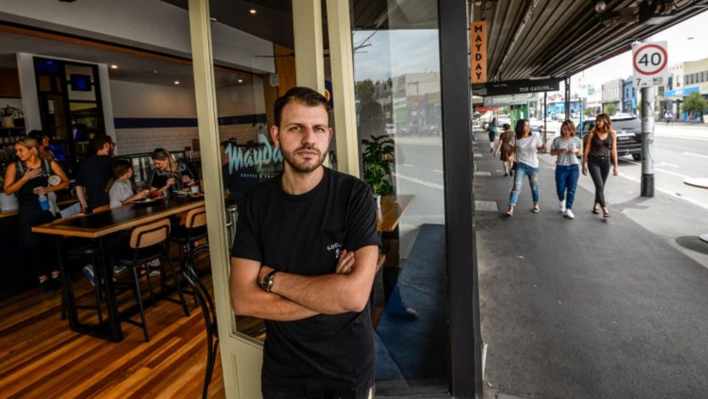 Bridge Road in Richmond is transforming from a discount shopping strip to a coffee and restaurant hub. Mayday cafe, which Adam Mariani and his business partners launched this week, will service thousands of new apartment residents.