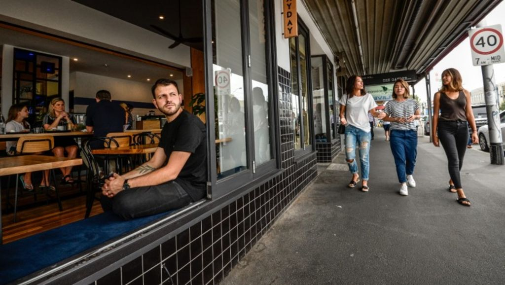 The team behind the successful Axil Coffee Roasters, including Adam Mariani, opened their latest venture - May day cafe - in Bridge Road this week, adding to the street's growing foodie scene. Photo: Justin McManus