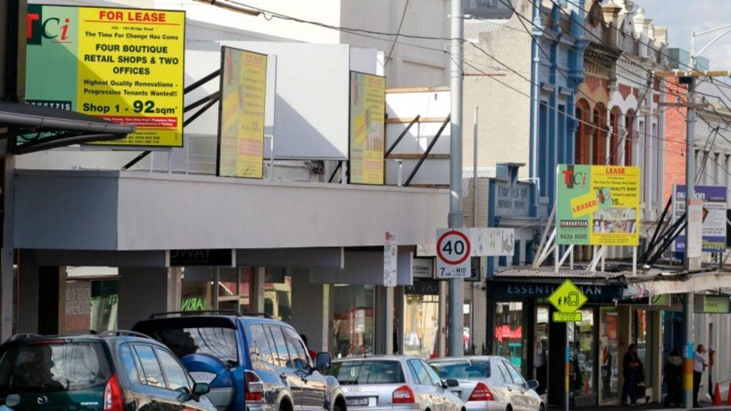 Empty boutiques, seeking tenants, dot the city-end of Bridge Road, known as Richmond Hill. Photo: Eddie Jim