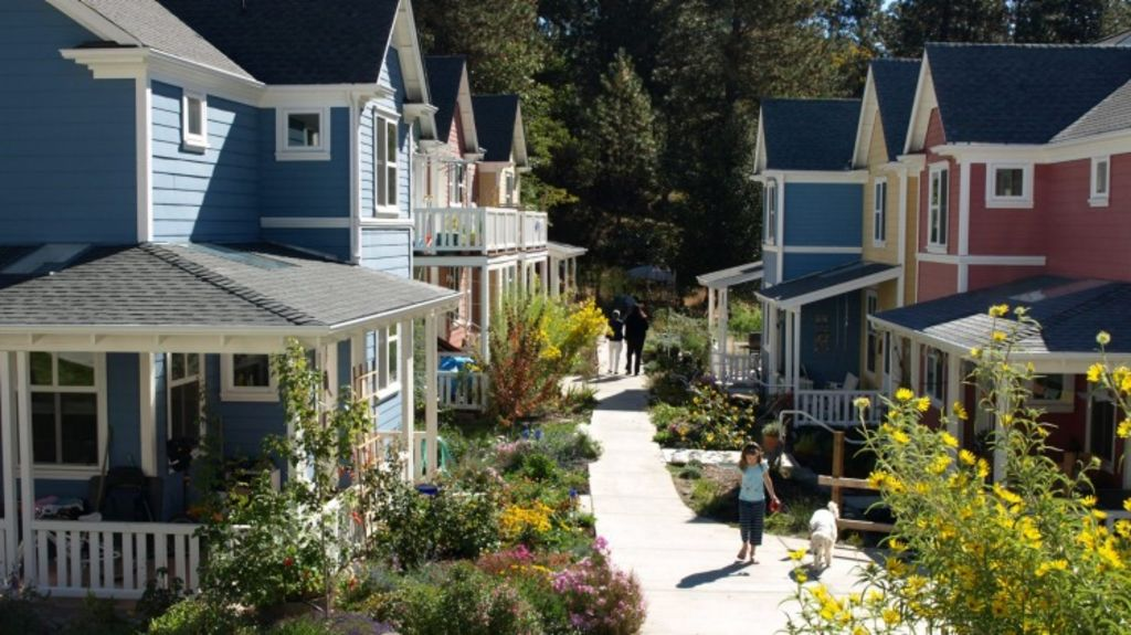 Will co-housing change the way live? This co-housing development is in Nevada City in the Sierra Foothills of California. Photo: CoHousing Solutions