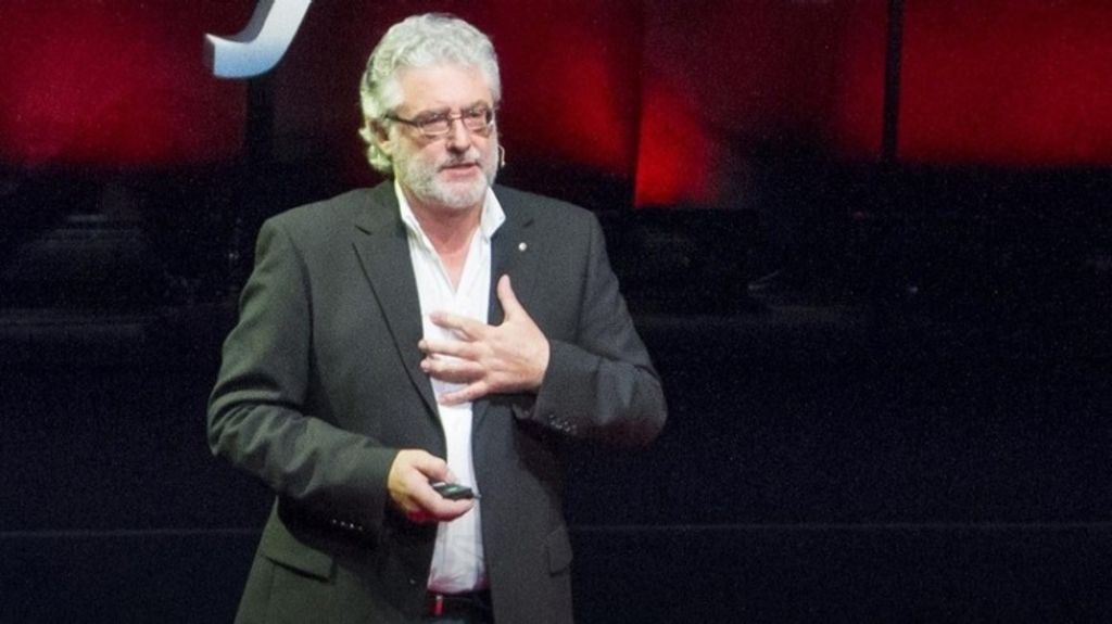 Paul Pholeros, presenting his TED talk. Photo: TED.com