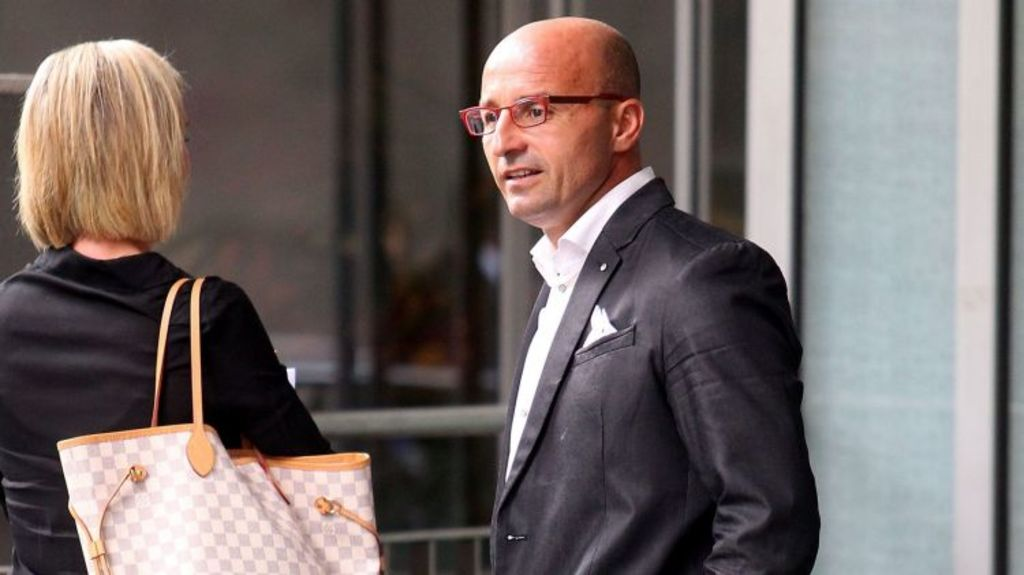 Celebrity buyers' agent Frank Valentic, made famous on TV show The Block, outside VCAT last month. Photo: Pat Scala