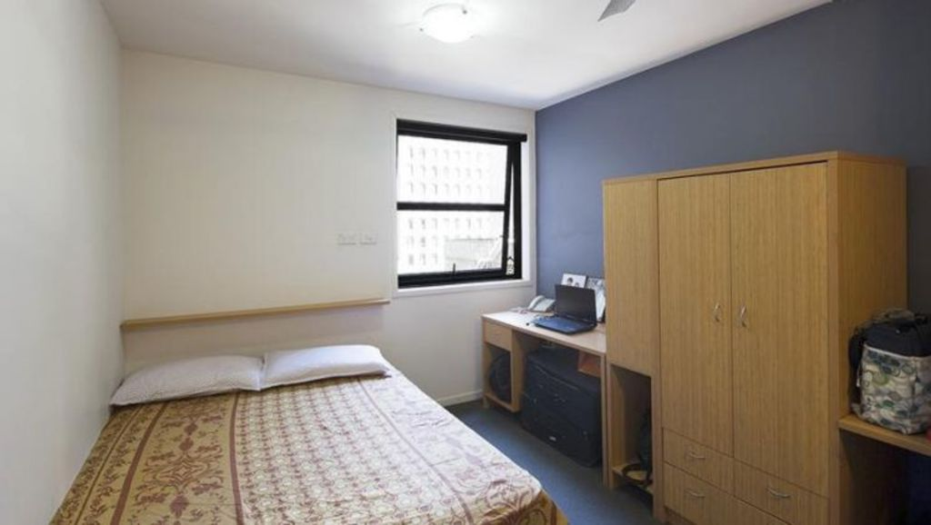 In 2013, agents listed for sale an 11.2 square metre apartment in Flinders Street. Photo: Peter Cox