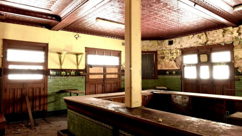 Inside the bar at the Terminus Hotel. Photo: Steven Siewert