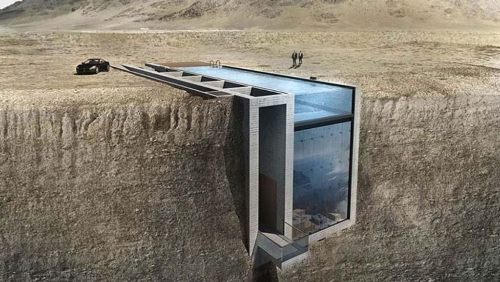 Would you dare live here? The original concept for the Casa Brutale. Photo: OPA