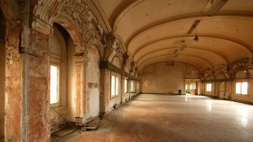 In line for refurbishment: the station's historic ballroom. Photo: Simon Schluter