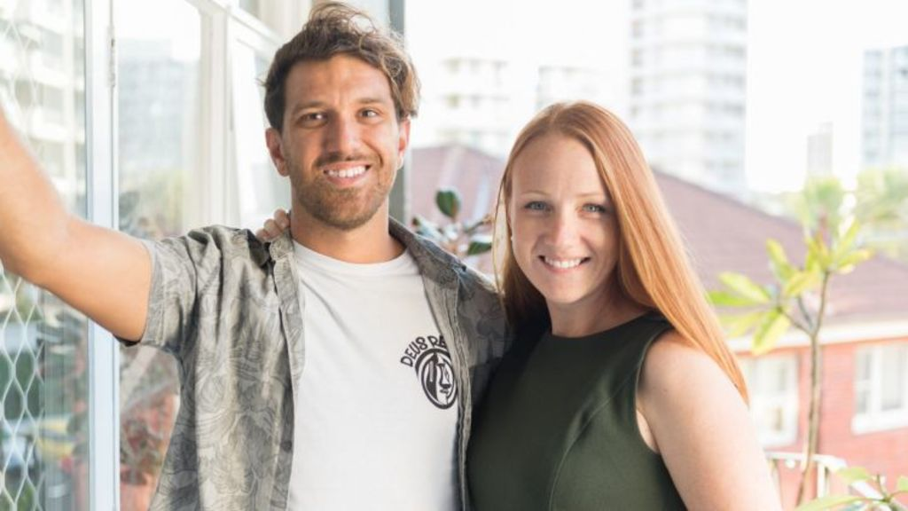 Teaming up: First-home buyers Michelle Moore and her boyfriend Luke Carr. Photo: Michelle Moore