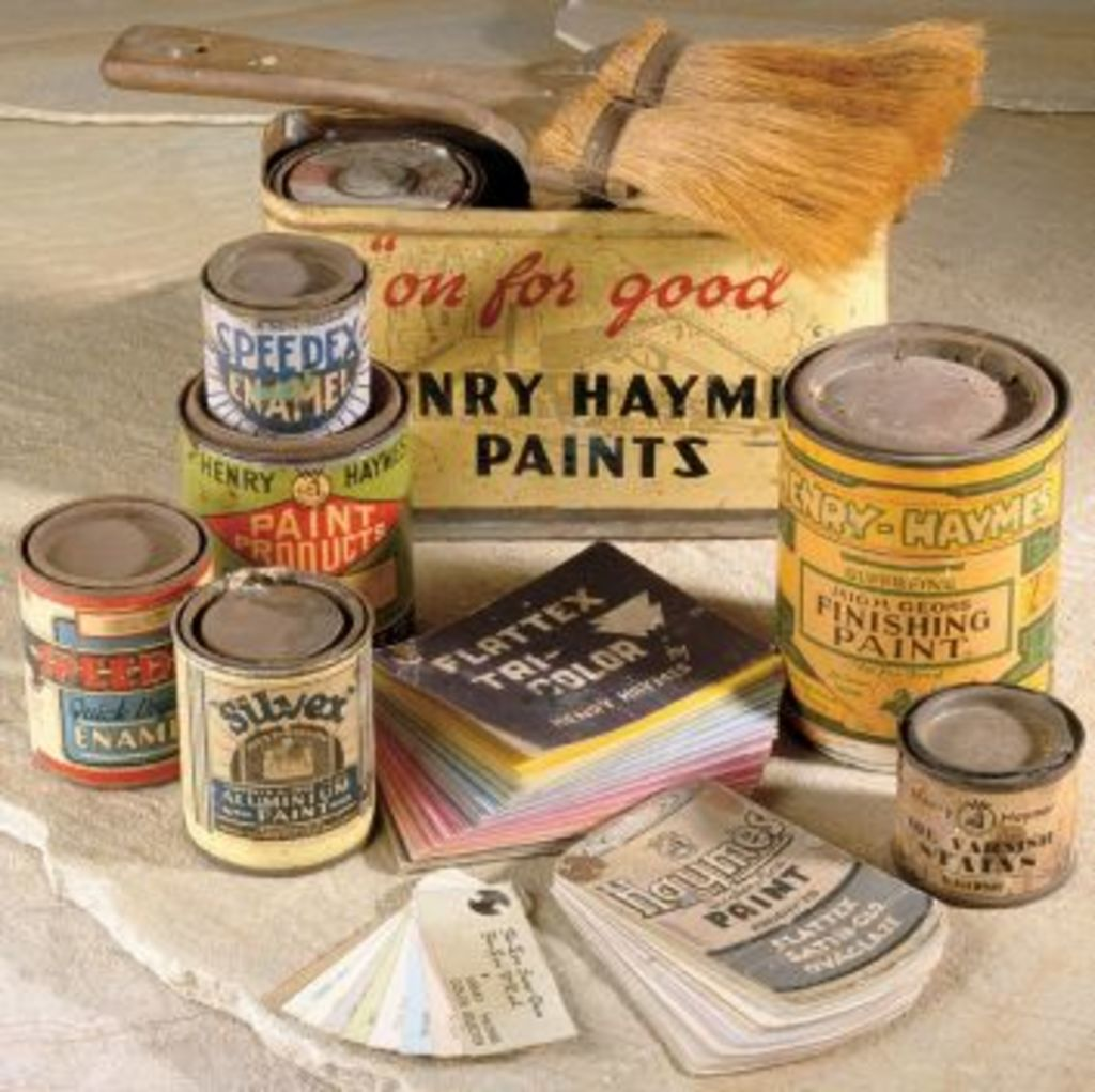 Rich history: Traditional Haymes paint packaging from 1940s. Photo: Haymes Paint.