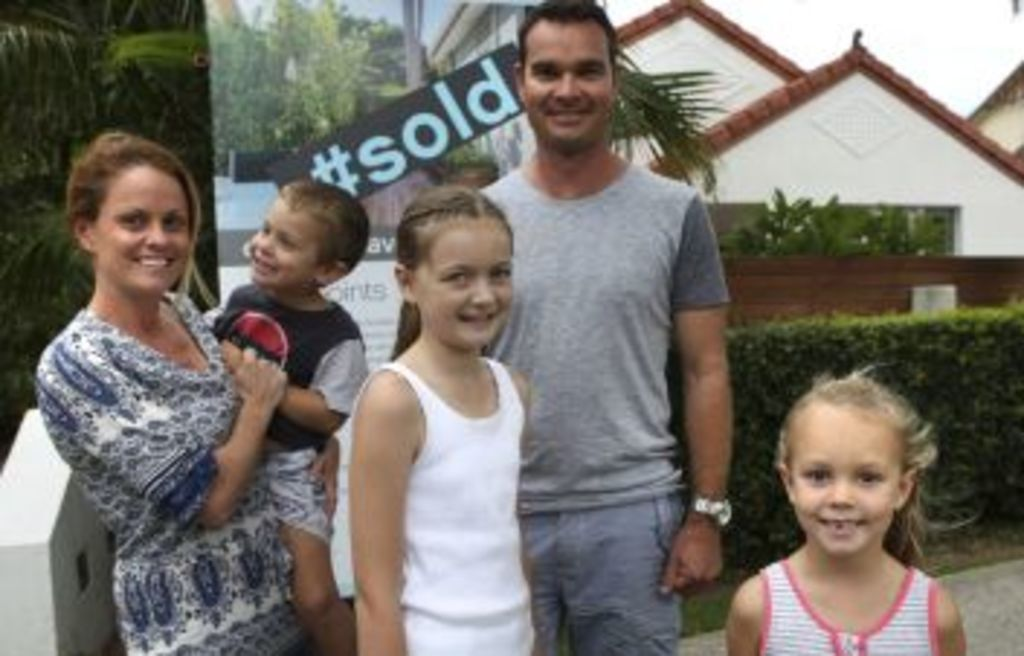 The Boland family have just sold their home in the south of Sydney but are hoping to buy in the same area. Photo: James Alcock