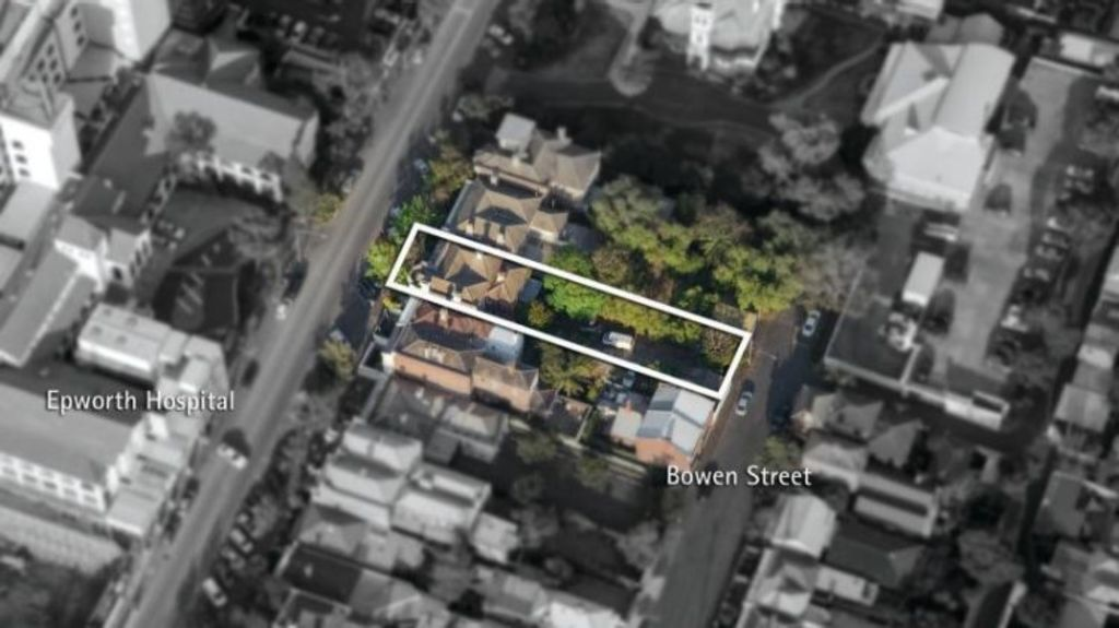 The property has a permit for medical rooms and is opposite the Epworth hospital. Photo: Supplied