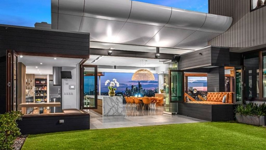 The open-plan house is one of Brisbane's most private residences. Photo: Supplied