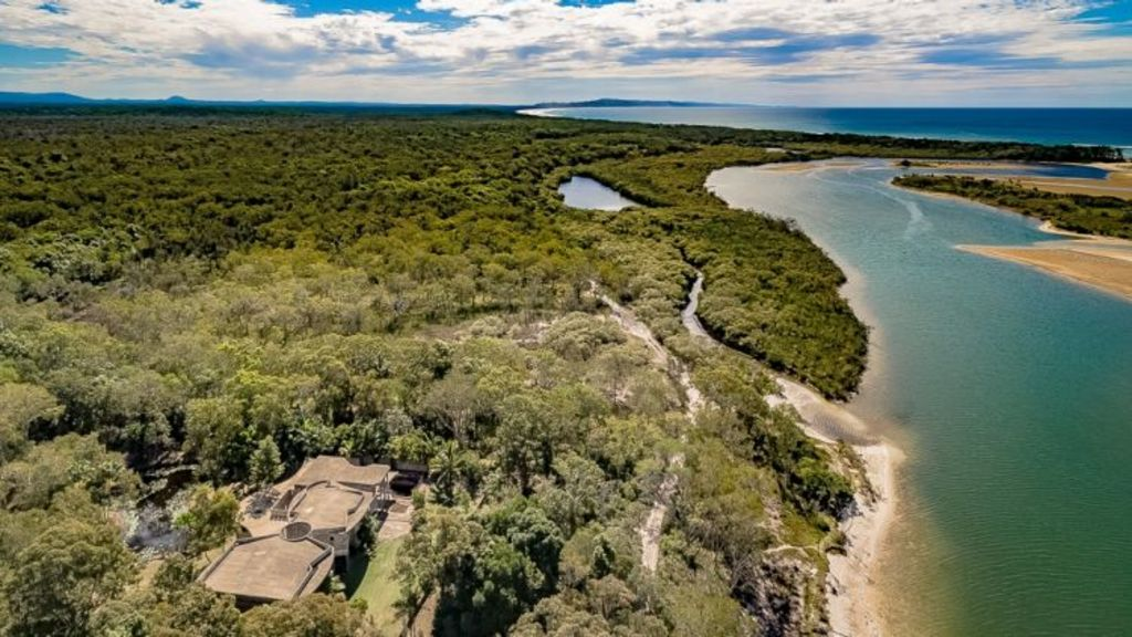 Lot 2 Frying Pan Track, Noosa North Shore is currently for sale as an unfinished mansion. Photo: Supplied