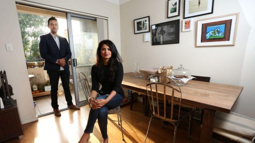 Gayatri Mahil and her husband Gautam Manu live in Sydney's Marrickville. Photo: Kirk Gilmour