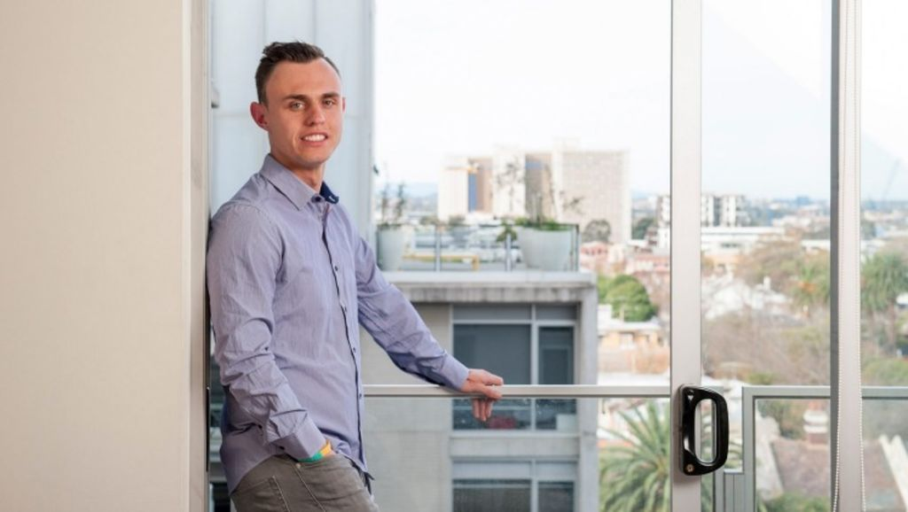 Jef Miles, 26, has bought an investment in Queensland while continuing to rent in a Sydney sharehouse. Photo: Jesse Marlow