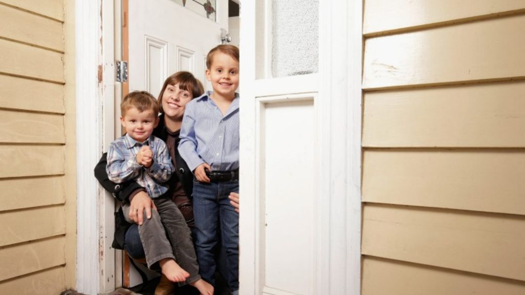 Stacey Leake is looking forward to her children Clancy, 3, and Steele, 5, growing up in new and revitalized Geelong. Photo: Darrian Traynor