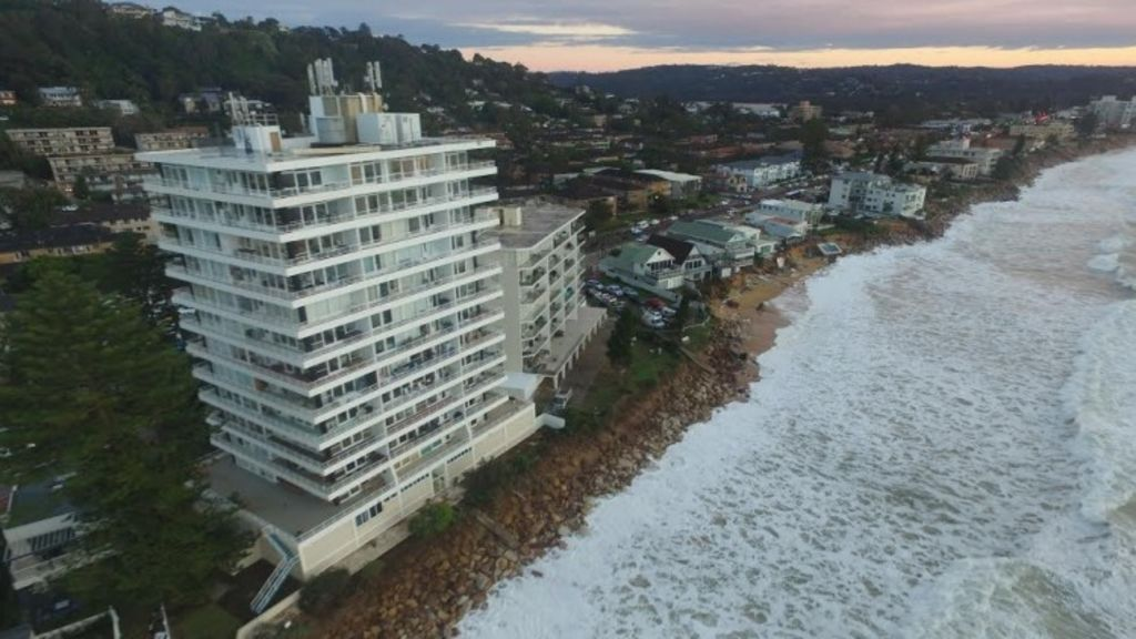 Drone footage shows the extent of the damage along Collaroy. Photo: Fairfax Media