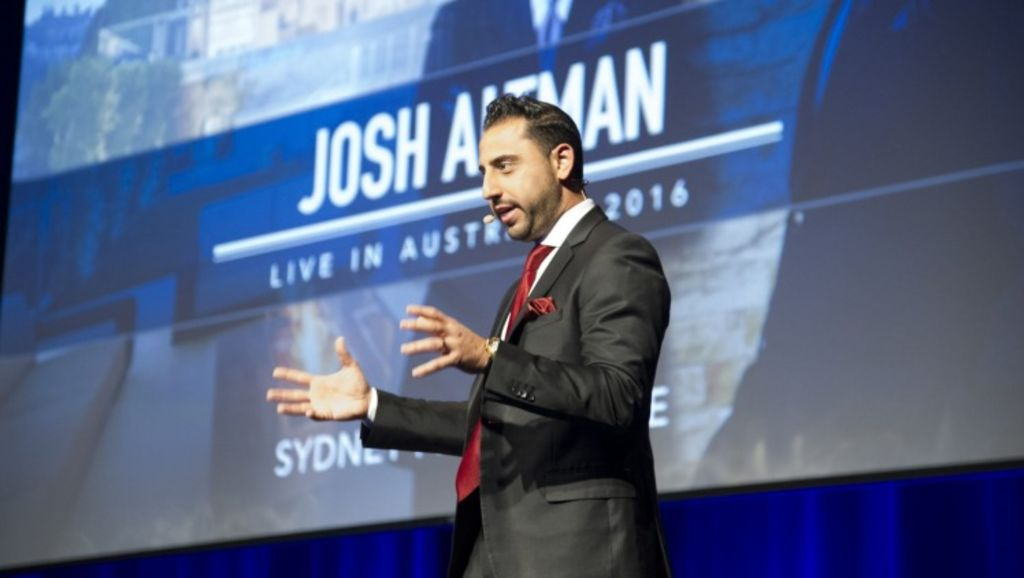 Million Dollar Listing LA's Josh Altman in Sydney. Photo: Chris Johnson
