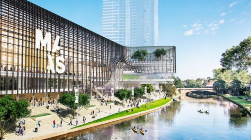 The proposed new Powerhouse Museum on the banks of the Parramatta River, which will add to the area's cultural appeal. Photo: NSW Government