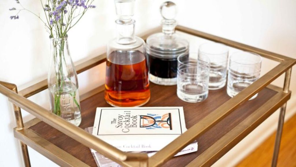 The drinks trolley is making a comeback. Photo: A Cozy Boat