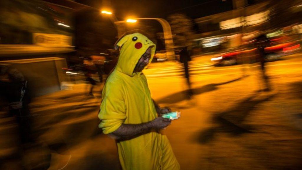 Pokemon players hunting in Altona well into the night. Photo: Jason South