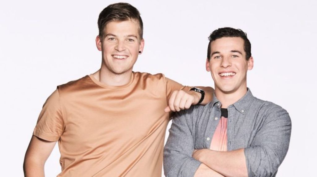 Best mates: teachers Ben and Andy. Photo: Channel Nine
