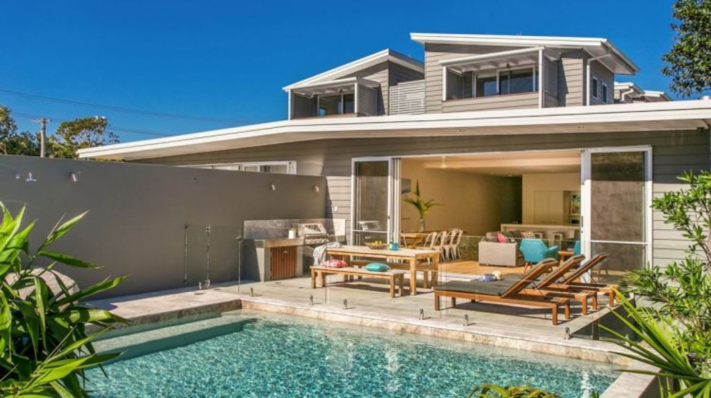 Renters can relax in privacy at Stonecutters, Byron Bay, New South Wales, from $6000 a week. Photo: Unique Estate