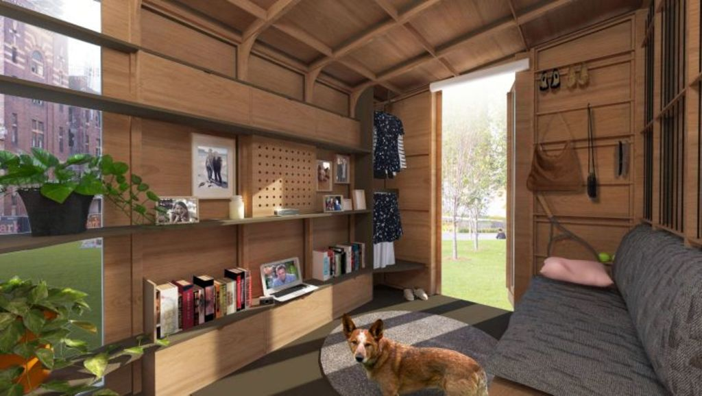 The modular homes could be used as a granny flat and don't need to be approved by council as they are registered as a vehicle. Photo: Big World Homes.