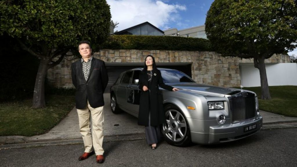 Prestige agents Sydney Sotheby's have invested in a new larger Rolls Royce to take buyers on a property tour. Photo: Louise Kennerley