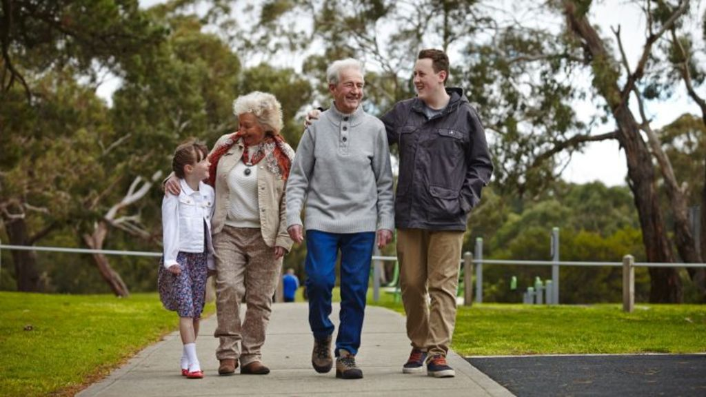 Joyce and Max McKendry say they happily left their seachange behind to spend more time with their younger grandkids. Photo: Frasers Property