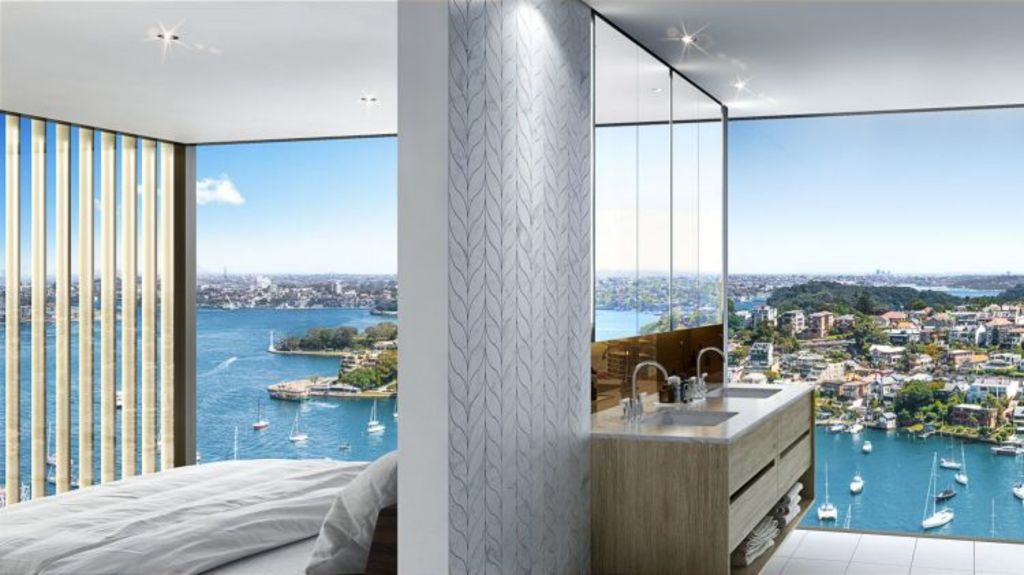 The penthouse at 88 Alfred in Milsons Point fits the brief of premium-end property with views.