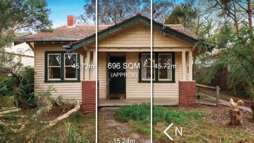 The original house at 14 Irymple Avenue, Kew East. Photo: Supplied
