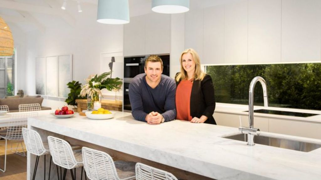 Darren and Dea Jolly recently finished the extensive renovations at 14 Irymple Avenue, Kew East. Photo: Bekdon Richards