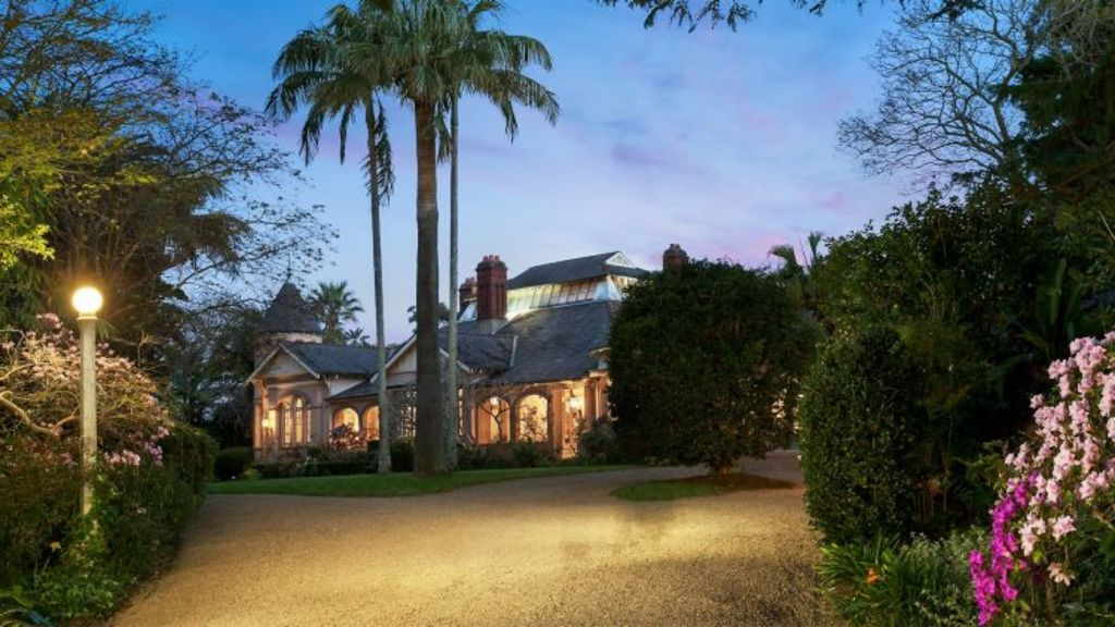 The driveway of Berith Park, the 120-year-old estate in Wahroonga. Photo: Supplied