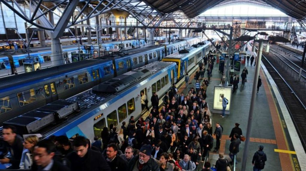 Clogged systems on the rails, too: train commuters facing congestion at Southern Cross Station earlier this month. Photo: Vince Caligiuri