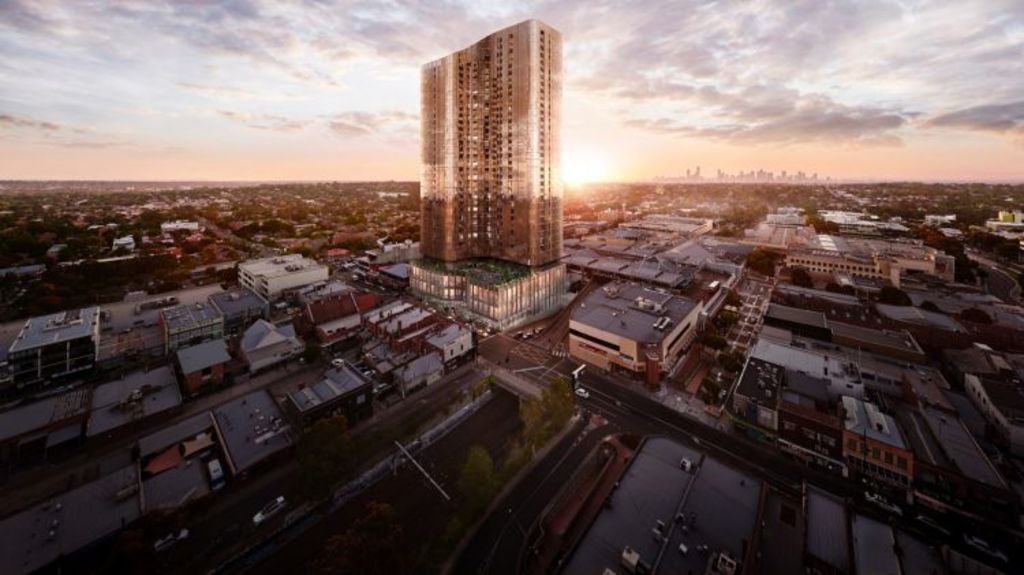 Increased investment in Box Hill has culminated in the impending construction of Sky One, which will dominate the local skyline. Photo: Andrew Griffiths - Lensaloft