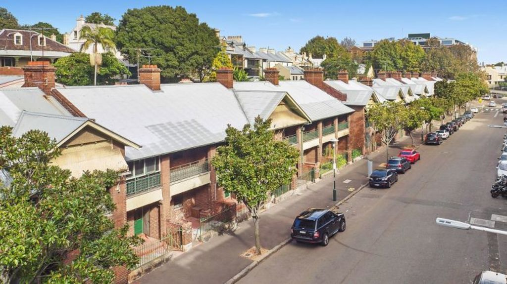 The sell-off of 13 terrace houses is set to add more than $23 million to NSW government coffers. Photo: Supplied