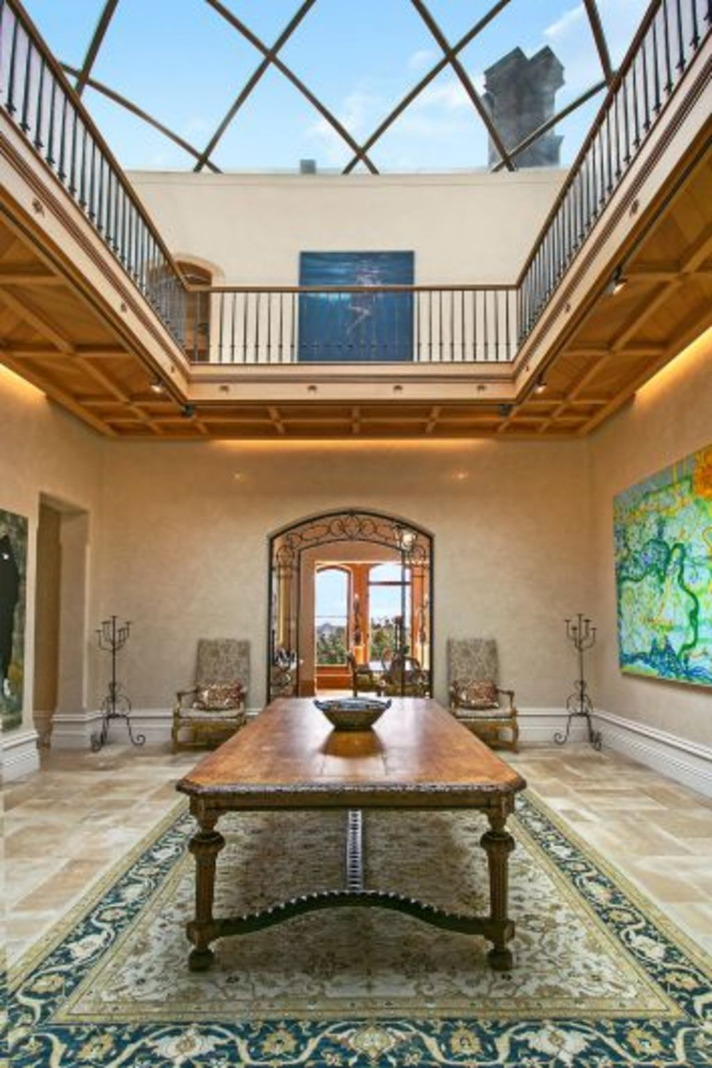 The sandstone entry hall was originally a courtyard. Photo: Supplied
