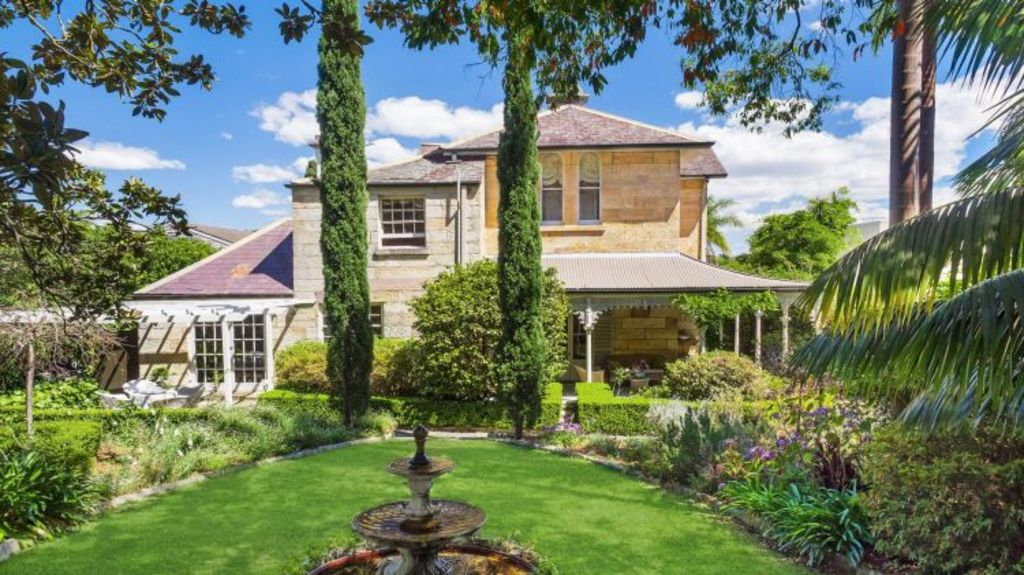 The historic Joubert-built sandstone home of property investor Nadine O'Brien will go up for auction. Photo: Supplied