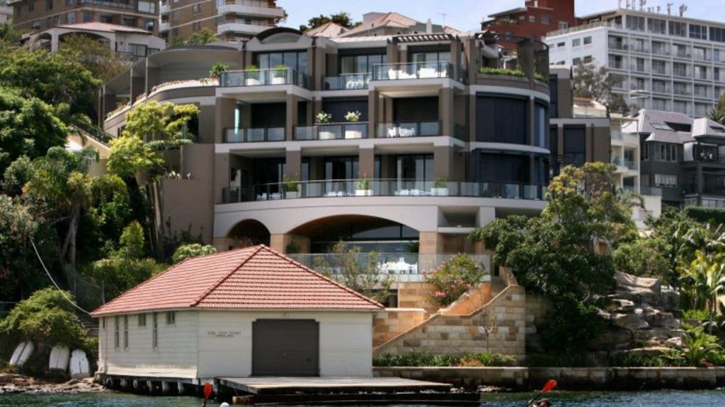 Global jitters following Donald Trump's election as president could result in greater demand for prestige homes. Pictured: Aussie John's Point Piper mansion, which is for sale. Photo: Ben Rushton