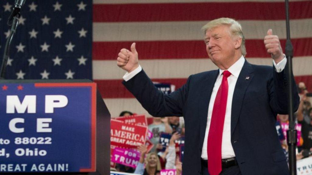 President-elect Donald Trump celebrates his victory. Photo: Ty Wright