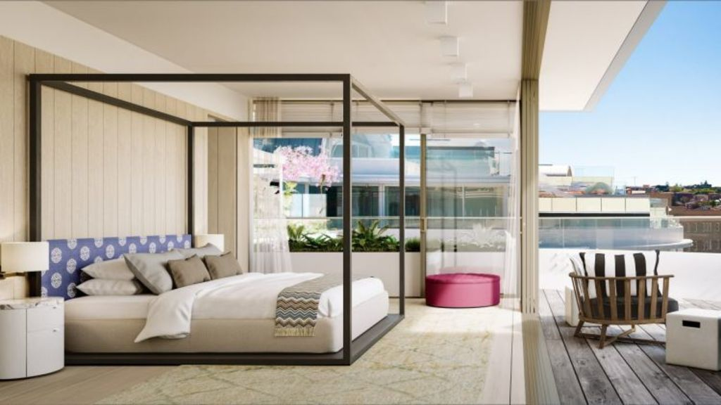 A penthouse on Campbell Parade, Bondi Beach, is being sold as a shell apartment. Photo: Domain.com.au