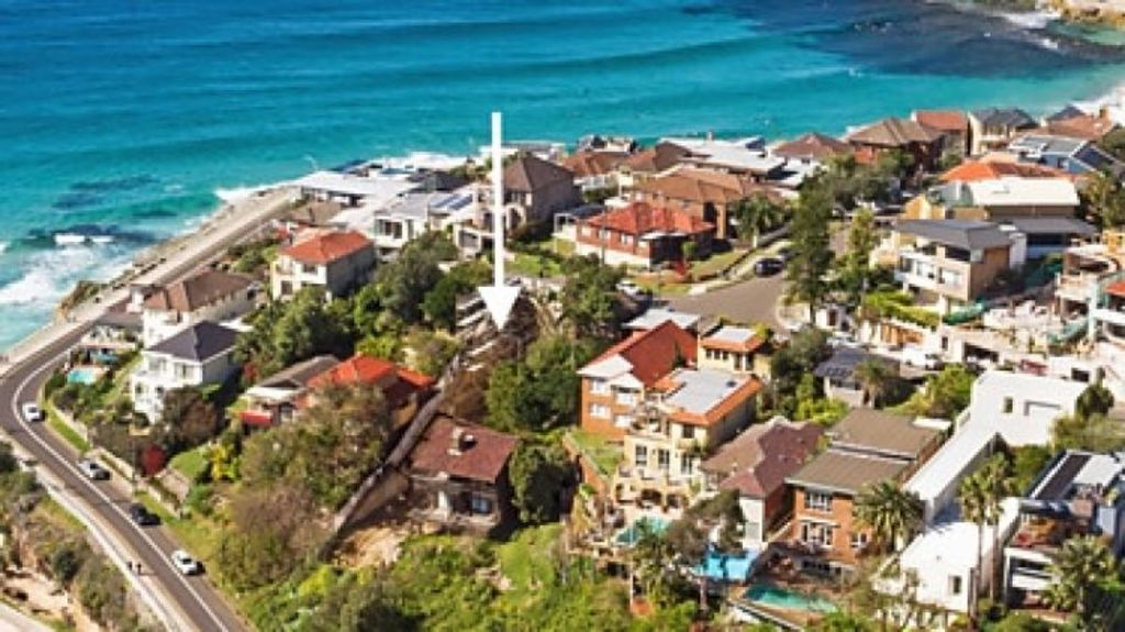 A Tamarama block, which is currently nothing more than a hole in the ground, is being offered for $15 million. Photo: Supplied.