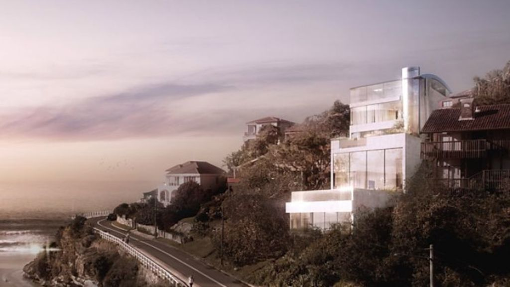 The block at Tamarama has DA approval for a stunning mansion. Photo: Supplied.