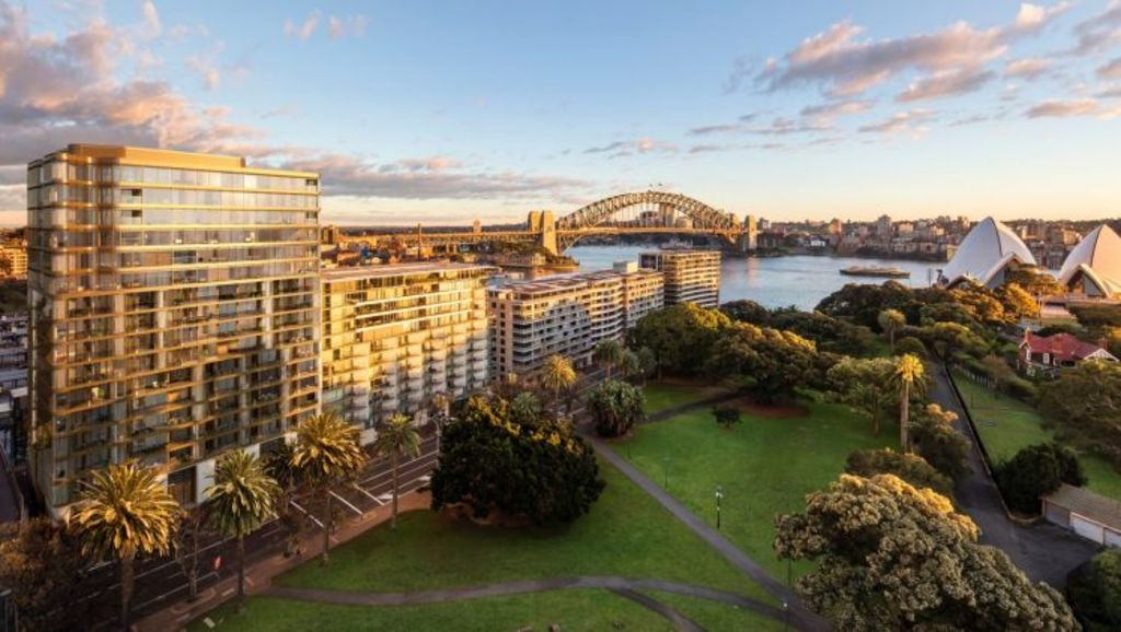 An artist impression of the Opera Residences at Circular Quay. Photo: Supplied
