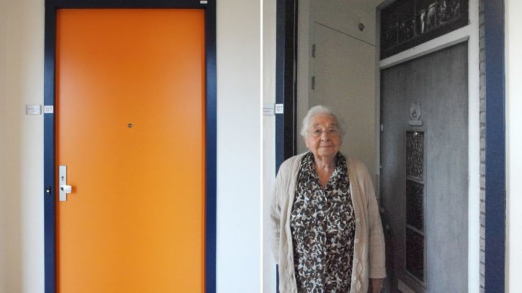Ms Roodenburg's personalised door reminds her of the warmth of her previous residence. Photo: True Doors