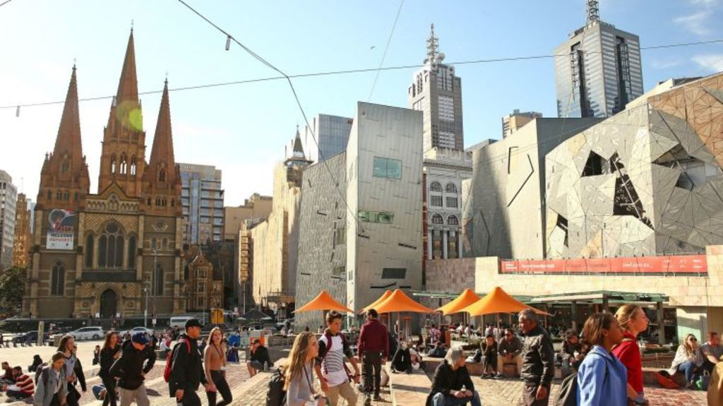 Federation Square is visited by more than 10 million people a year. Photo: Scott Barbour