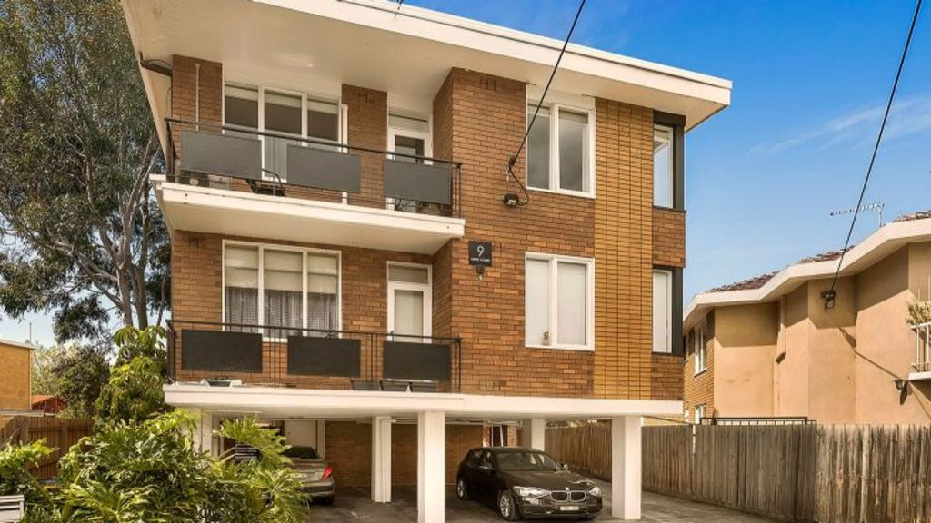 Eight one-bedroom apartments, many of which have been renovated, are up for grabs in Greig Court, Elwood. Photo: Biggin & Scott