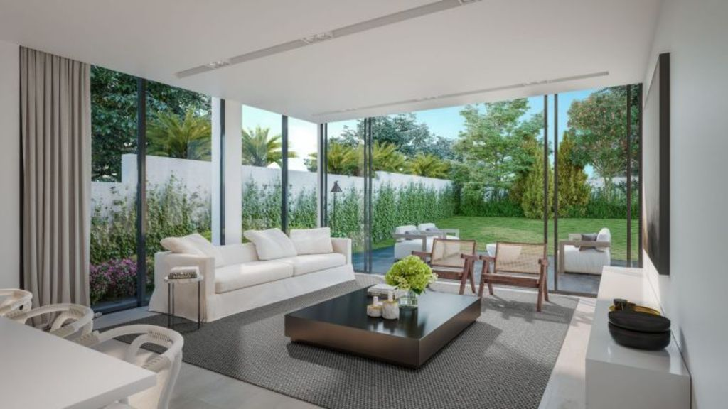 Belle Residences, Bellevue Hill. Floor-to-ceiling glass is a key feature.